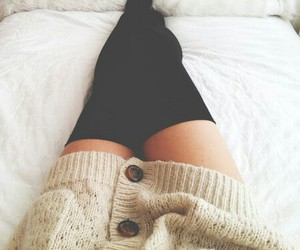 fashion, bed, and legs image