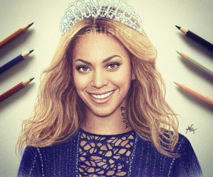 beyoncé, drawing, and art image