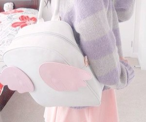 sweater, fashion, and backpack image