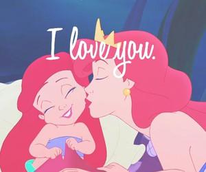 little mermaid, mom, and love image