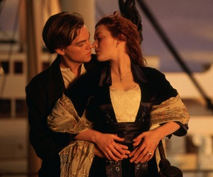 titanic, kiss, and rose image