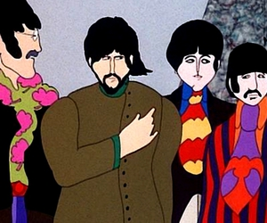 colors, the beatles, and yellow submarine image