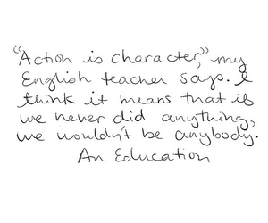 an education, character, and film image