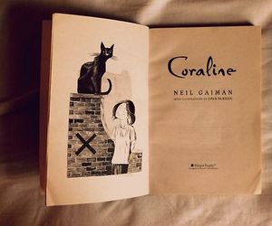 book, coraline, and Neil Gaiman image