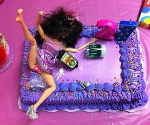 barbie, cake, and birthday image
