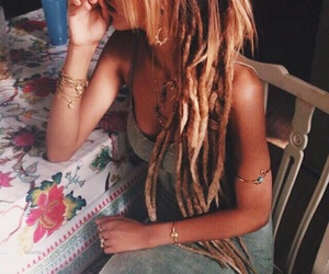 hair, hippies, and dreads image