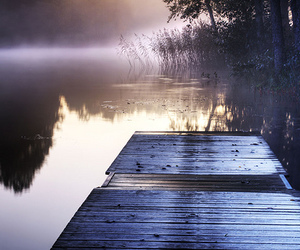lake, mist, and photography image