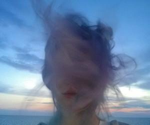 grunge, hair, and sky image