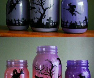 bottle, diy, and silhouettes image