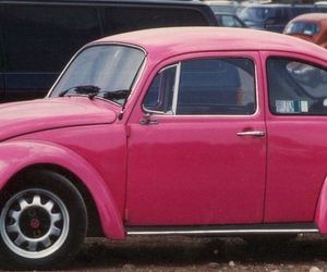 car, old, and pink image