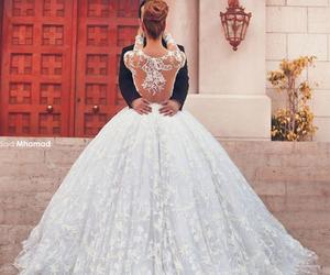 beautiful, couple, and dream wedding dress image
