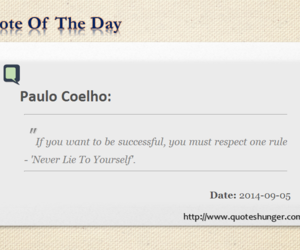 quote of the day, paulo quotes, and success rule image