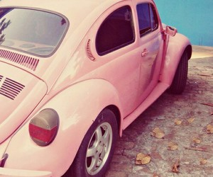 pink car, oldscool, and car image