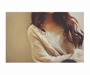 sweater and hair image
