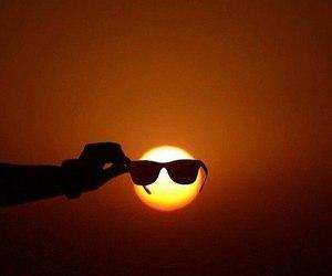 sun, sunglasses, and cool image
