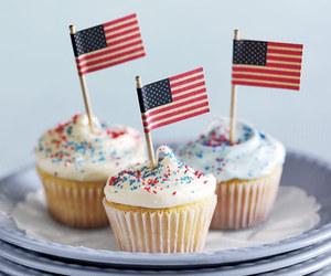 cupcake, flag, and food image