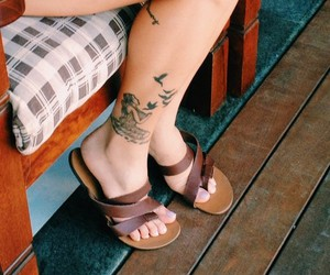shoes, accessories, and tattoo image