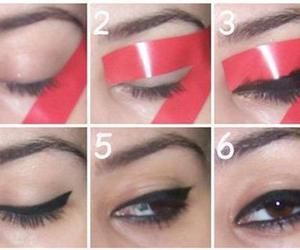 eyeliner, diy, and makeup image