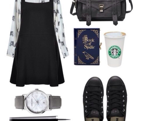 black dress, lookbook, and looksb image