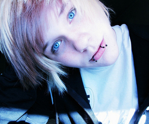 boy, blue eyes, and piercing image