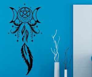 decals, dream catcher, and indian image