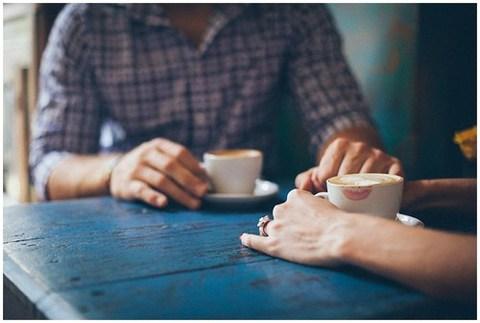 boy, coffee, and couple image