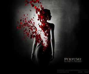 girl, petals, and red image