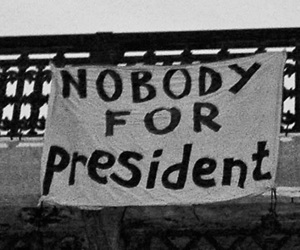 president, nobody, and black and white image