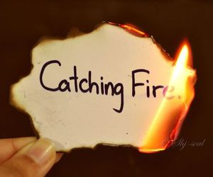 catching fire, fire, and the hunger games image
