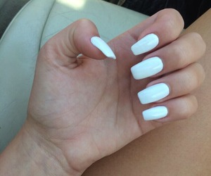 nails, girl, and white image