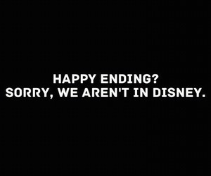 disney, sorry, and happy ending image