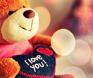 happy, I Love You, and teddy image