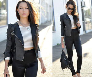 black, jacket, and outfit image
