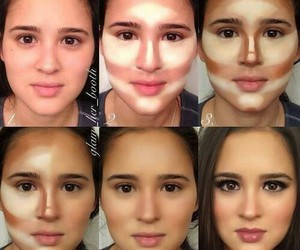 beauty, contour, and fundation image