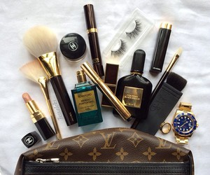 chanel, Louis Vuitton, and make up image