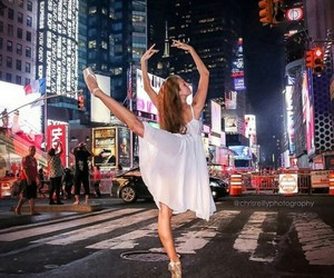 dancing, nyc, and time square image