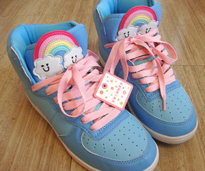 shoes, cute, and rainbow image