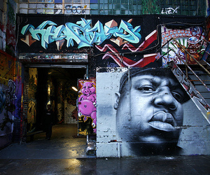 biggie, graffiti, and notorious big image