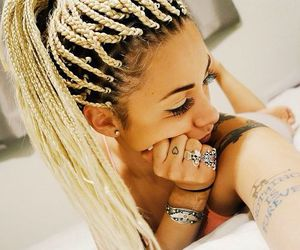 hair, braids, and blonde image