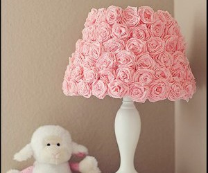 lamp, pink, and flowers image