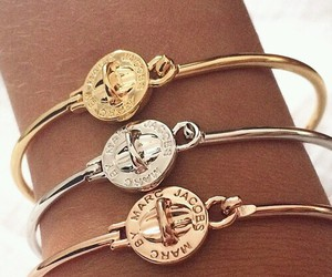 bracelet, gold, and marc jacobs image