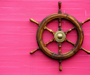pink, summer, and ship image
