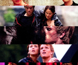the hunger games, katniss everdeen, and peeta mellark image