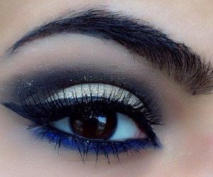 cat eye, girl, and makeup image