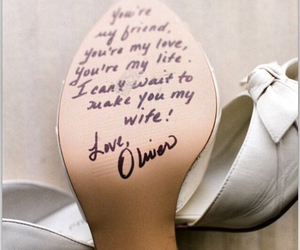 wedding, love, and shoes image