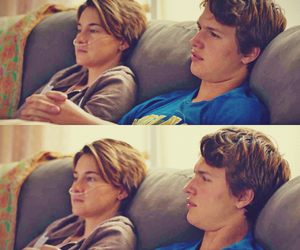 love, couple, and augustus waters image