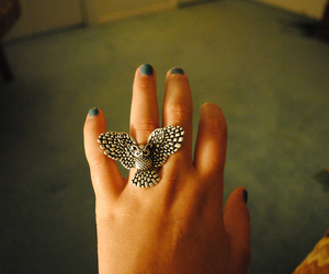 owl, girl, and ring image