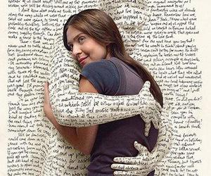 book, hug, and words image