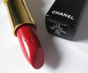 chanel, lipstick, and red image