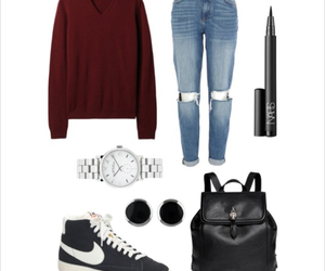 autumn, backpack, and casual image